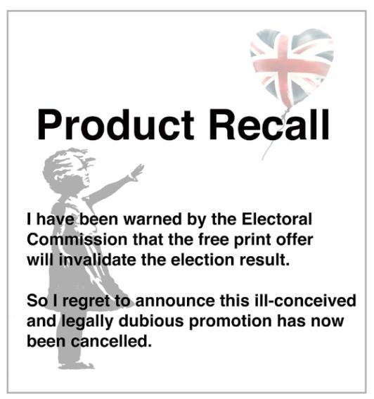 Banksy recall